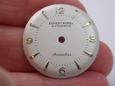 Incastar Automatic Ernest Borel Vintage Pearl 25.4mm Watch Dial Mens New Old Stk