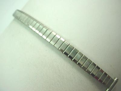 "8mm-10mm 3/8"" Ladies Vintage Watch Band Stainless Steel Straight Expansion NOS"