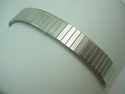 """Mens Vintage Bulova Watch Band 100% Expansion Stainless Steel 19mm 3/4"""" NOS"""