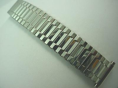 "Stainless Steel Mens Vintage Watch Band Straight Expansion 16mm-19mm 5/8""-3/4"""