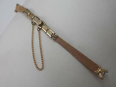 Gold Filled Speidel Ladies Vintage Watch Band C Ring Butterfly Clasp New Old Stk