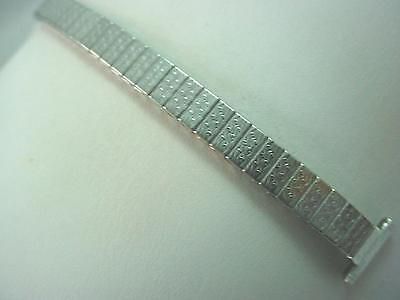 "Straight Expansion Ladies Vintage Watch Band Stainless Bulova 13mm 1/2"" NOS"