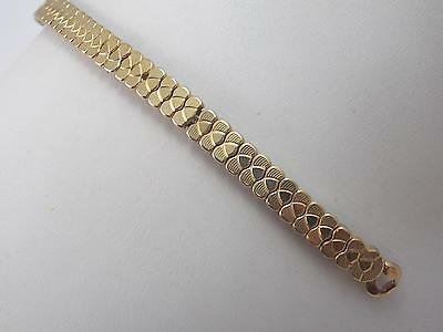 JB Champion Hook End Ladies Vintage Watch Band Gold Tone Scissor Expansion NOS