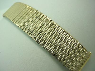 "Speidel Mens Watch Band Vintage Gold Tn Strght Expansion 17.5mm-22mm 11/16""-7/8"""