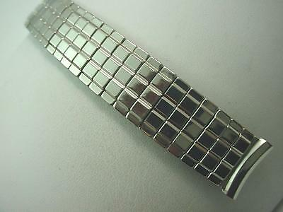 "Mens Vintage Watch Band Overhand Expansion 17.5mm 11/16"" Stainless Steel NOS"