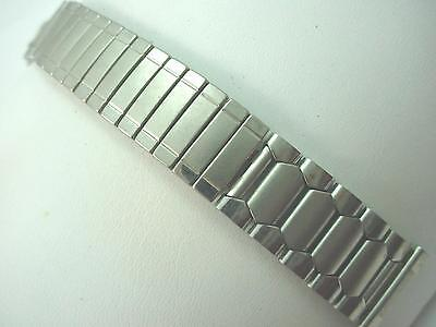 """Center Scissor Expansion Stainless Steel Mens Vintage Watch Band 19mm 3/4""""  NOS"""