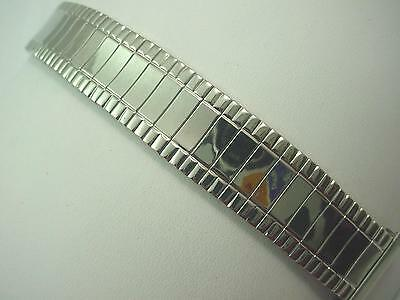 "Uniflex Vintage 19mm 3/4"" Stainless Steel Mens Watch Band Full Expansion NOS"