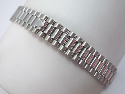 Downing Center Link Attachment 8.1mm Mens Vintage Watch Band Stainlss Deployment