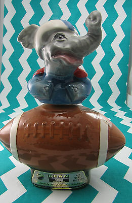 1968 Jim Beam Whiskey Decanters Football  Elephant- Empty