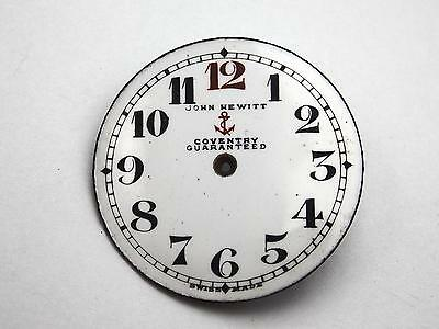 Watch Dial for Pocket Watches Vintage John Hewitt Coventry Guaranteed 27.45mm