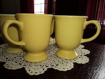 Shenango yellow footed mugs set of 6 Indian stamps