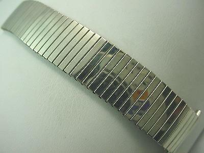 "JB Champion 17mm-22mm 11/16""-7/8"" Mens Vintage Watch Band Expansion Stainless St"