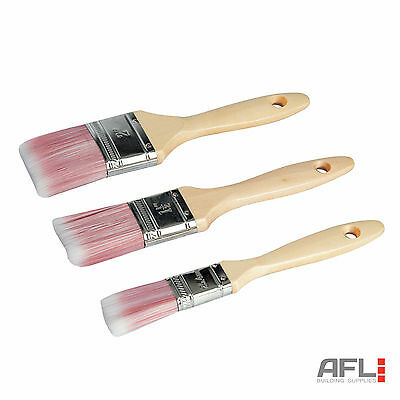 Silverline 3 Piece Synthetic Paint Brush Set For Gloss or Emulsion Paints