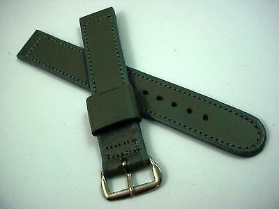 Cardinal Grey Leather Silver Tone Buckle Mens Vintage Watch Band Stitched NOS • £22.55