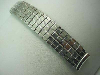 "16mm 5/8"" Mens Vintage Watch Band Overhand Expansion Stainless Steel New Old St"