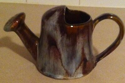 FOSTERS RIVER DART DITTISHAM POTTERY BROWN HONEYCOMB WATERING CAN