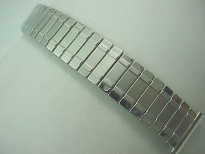 """19mm 3/4"""" Mens Vintage Watch Band Duchess Stainless Steel Overhand Expansion NOS"""