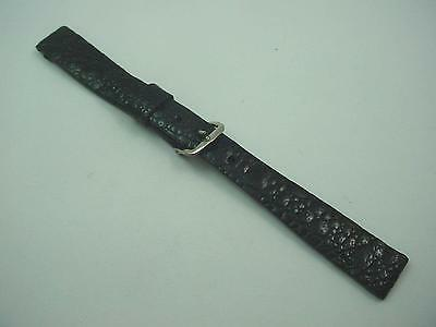 "Genuine Frog Leather Ladies Watch Band Vintage Black 13mm 1/2"" JB Champion NOS"