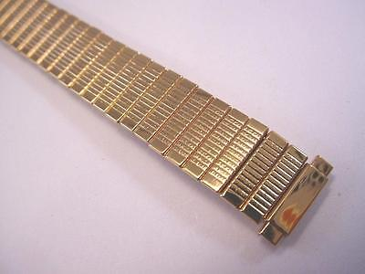 "Kreisler Vintage Ladies Line Pattern Expansion Watch Band 10-13mm 1/2""  Goldtone"