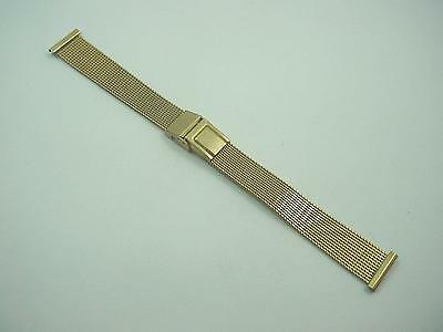 "Ladies Vintage JB Champion Watch Band Sliding Clasp 13mm 1/2"" Gold Tone NOS"