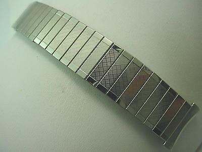 """Bulova Mens Vintage Watch Band Straight Expansion Stainless Steel 19mm 3/4"""" NOS"""