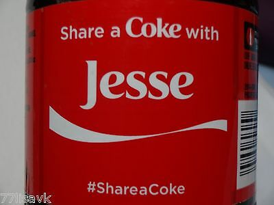 Share a COKE with JESSE Collectible 20 oz Bottle RARE Coca-Cola HTF Name SEALED