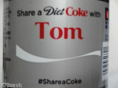 Share a DIET COKE with TOM Collectible 20 oz Bottle RARE Coca-Cola HTF Name