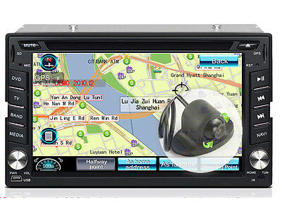 6.2 Inch Touch Screen Car Dash DVD Player Head Unit GPS RDS with Parking Camera