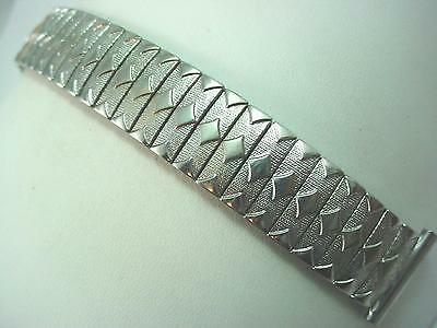 "19mm 3/4"" Mens Vintage Watch Band Stainless Scissor Expansion Foster Bristol NOS"