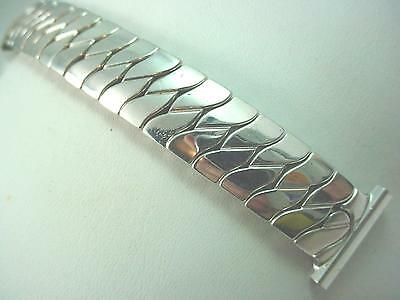 "Speidel Stainless Steel Scissor Expansion Mens Vintage Watch Band 19mm 3/4"" NOS"