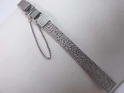 """Seiko Ladies 10mm 3/8"""" Vintage Watch Band Butterfly Clasp Stainless Steel NOS"""