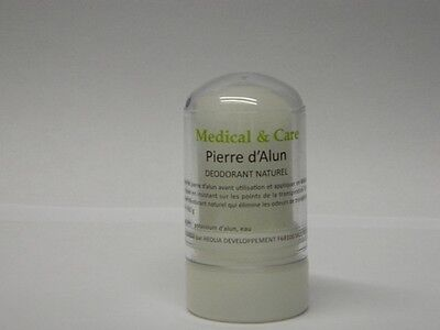 LOT 5 Déodorants PIERRE D'ALUN en stick 60gr Potassium MEDICAL & CARE