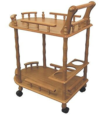 Wine Table Rolling Wood Serving Cart Kitchen Portable Caddy Storage Rack Accent