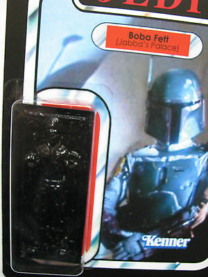 CUSTOM JABBAS PALACE BOBA FETT WITH HAN SOLO IN CARBONITE VINTAGE STYLE CARDBACK