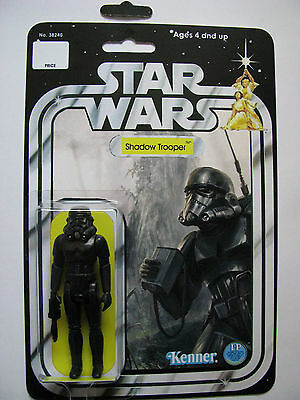 MCQUARRIE CONCEPT TROOPER  ACTION TOY ON VINTAGE STARWARS CUSTOM CARD COLLECT