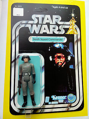 VINTAGE 1977 DEATH SQUAD COMMANDER  MADE BY KENNER TOYS ON HIS STAR WARS 12 BACK