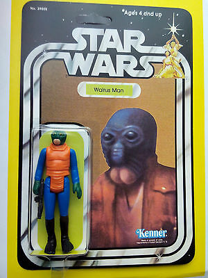 VINTAGE 1979 WALRUS MAN BY KENNER TOYS CINCINATTI ON STAR WARS 21 BACK CANTINA