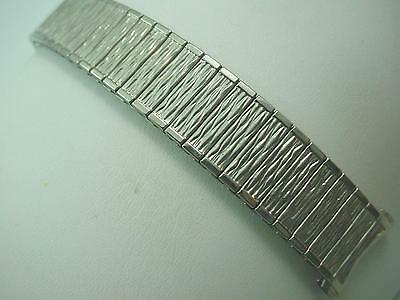 "Watch Band Mens Vintage Speidel Stainless Steel 19mm 3/4"" Straight Expansion NOS"