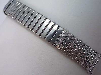 "Foster Mens 16mm-19mm 5/8""-3/4"" Vintage Watch Band Stainless Steel Centr Expansn"