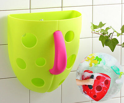 Babyyuga Scoop, Drain and Store Baby Bath Toy Storage Bathtime Organiser - Green