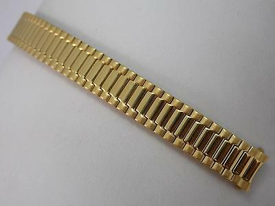 Gilden Ladies Vintage Watch Band 11mm Straight Expansion Gold Tone New Old Stock