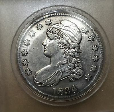 1834 50C Lg Date Small Letters Capped Bust Half Dollar