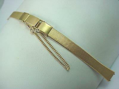 Butterfly Clasp Speidel Gold Tone Vintage Ladies Watch Band 8mm New Old Stock