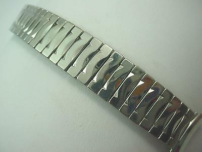 "Mens Vintage UMAT Watch Band Full Expansion Stainless Steel 19mm 3/4"" Curved Lug"