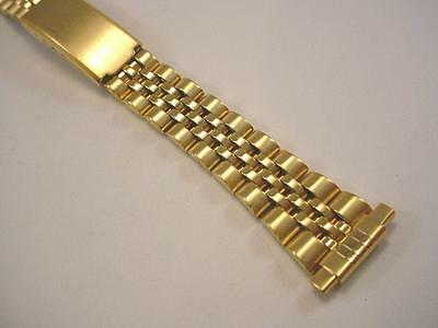 "Ladies Vintage Jubilee Style Watch Band Gold Tone 12-15mm 1/2"" Straight Lug NOS"