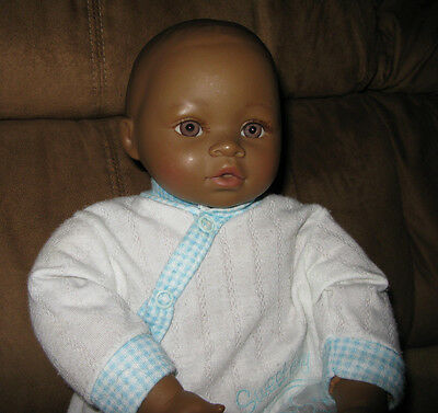 """KINGSTATE AFRICAN AMERICAN 18"""" TALL BABY DOLL  W/White sleeper"""