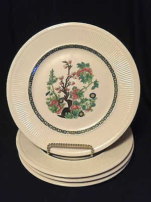 Set of 4 Shenango China Restaurant Ware INDIAN TREE Dinner Plates