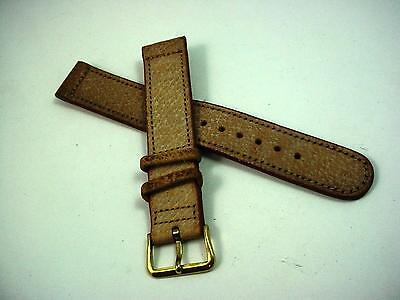 Jewelry & Watches Wristwatch Bands Genuine Buffalo Grain Leather Watch Strap Band Mens Padded Stainless Ss Buckle We Take Customers As Our Gods