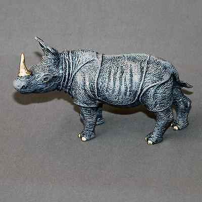 Detailed Rhinoceros Bronze Rhino Art Signed Figurine Sculpture Statue Numbered