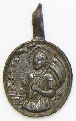 St. Venantius Beheaded Martyr, Sacrament of Eucharist MEDIEVAL BRONZE HOLY MEDAL